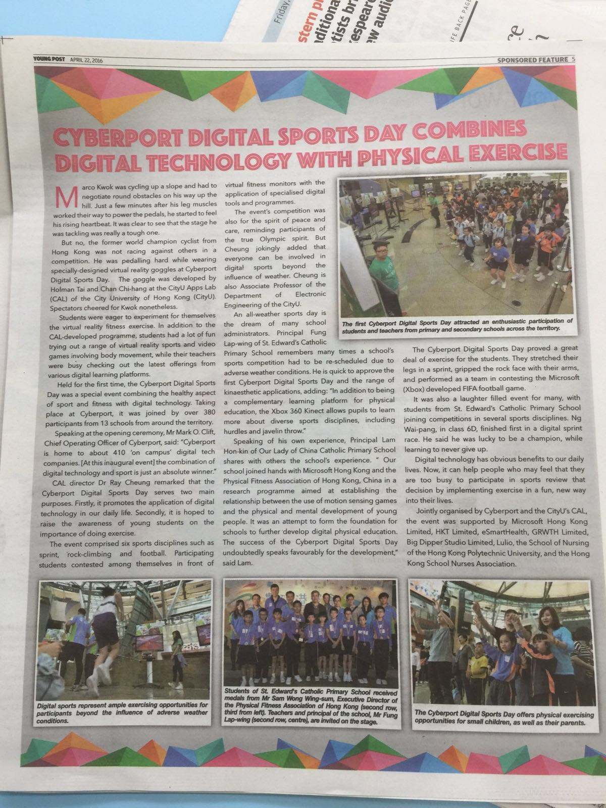 Cyberport Digital Sports Day Combines Digital Technology With Physical Exercise